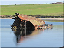 ND4798 : Blockship by Churchill Barrier No. 3. by sylvia duckworth