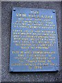 NY1625 : Plaque on the wall of Lorton village hall by Roger Smith