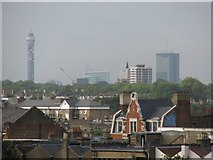 TQ3386 : Stoke Newington rooftops from the southerly tower of the George Downing Estate by Sarah Charlesworth