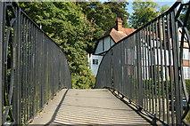 SU9948 : Bridge Across the Wey, Surrey by Peter Trimming