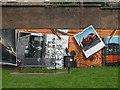 NS5766 : Mural, Kelvingrove Park. 2 - Cars by Richard Webb