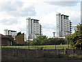TQ4479 : Towers on Erebus Drive, Thamesmead by Stephen Craven