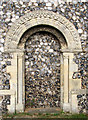 TG3903 : St Botolph's church - the Norman south doorway by Evelyn Simak
