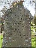 ST8992 : William Clark gravestone at St Mary's Tetbury. by Paul Best
