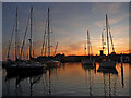SZ3589 : Yarmouth Harbour at Sunrise by Christine Matthews