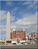 SD3036 : Blackpool War Memorial and Metropole Hotel by Gerald Massey