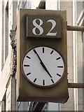 TQ2881 : Clock on 82 Baker Street, W1 by Mike Quinn