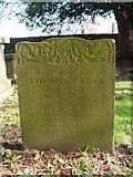 ST8992 : Thomas Grose gravestone St Mary's Tetbury. by Paul Best