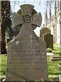 ST8992 : George gravestone St Mary's Tetbury. by Paul Best
