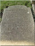 ST8992 : Josiah Paul gravestone St Mary's Tetbury. by Paul Best