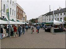 SO5140 : New Street Market, High Town, Hereford by Alan Spencer