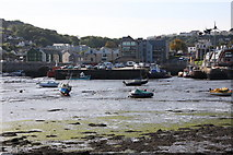 SW7834 : Jubilee Wharf at low tide from across the Penryn River by Graham Loveland