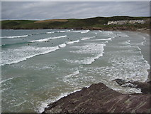 SW9379 : Surfers in Hayle Bay by Philip Halling
