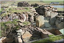 HU4841 : Relocated burnt mound from Cruester  at Bressay Heritage Centre by john bateson