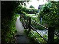 SO3474 : Footbridge, River Redlake, Bucknell by Chris Gunns