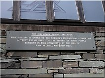 NY3704 : Inscription stone, The Old Junior School by Kenneth  Allen