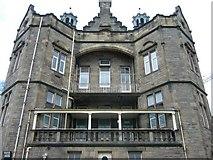 NT2572 : Old Royal Infirmary balconies, Simpson Loan by kim traynor