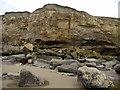 NZ4154 : Magnesian limestone cliffs north of Salterfen Rocks by Andrew Curtis