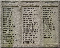 SW9276 : Names on Padstow War Memorial by Philip Halling
