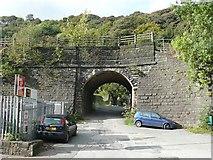 SD9726 : Stony Lane railway bridge, Charlestown, Hebden Bridge by Humphrey Bolton