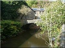 SD9726 : Woodland View footbridge, Charlestown, Hebden Bridge by Humphrey Bolton