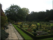 SK2272 : Formal garden in grounds of Hassop Hall by Peter Barr