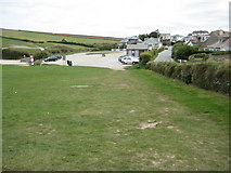 SW8975 : Car park at Trevone by Philip Halling