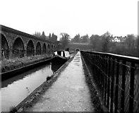 SJ2837 : Chirk Aqueduct, Llangollen Canal by Dr Neil Clifton