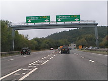 SX9184 : Junction of A380 and A38, Haldon Hill by Rob Purvis