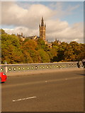 NS5666 : Glasgow: university tower from Partick Bridge by Chris Downer