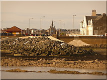 NS2441 : Saltcoats: looking across the harbour towards Winton Circus by Chris Downer