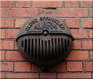"J3373 : Old ""Globe"" fire/sprinkler alarm,  Belfast by Albert Bridge"