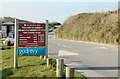 SW5842 : Welcome sign at Godrevy carpark by Andy F