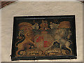 TG2034 : St Bartholomew's church - Queen Anne (1702-1714) royal arms by Evelyn Simak