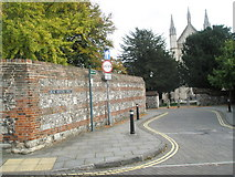 SU4829 : View of Winchester Cathedral from Great Minster Street by Basher Eyre