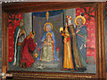 TG0041 : The church of SS Andrew and Mary - tapestry by Evelyn Simak