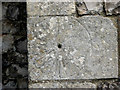 TG3818 : St Catherine's church - scratch dial by priest door by Evelyn Simak