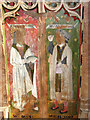 TG0743 : St Nicholas' church - rood screen panels by Evelyn Simak