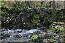 SH6229 : Packhorse bridge over the Afon Artro by Nigel Brown