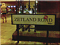 NZ4920 : 'Zetland Road' sign, at the Albert Road junction by Geoff Royle