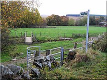 NS7608 : Footpath and footbridge at Old Barr by Oliver Dixon
