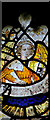 TG1613 : St Edmund's church - medieval stained glass by Evelyn Simak