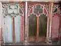 TG3631 : All Saints church, Walcott - rood screen panels by Evelyn Simak