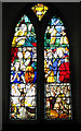TF9441 : St Mary's church - C16 Continental glass by Evelyn Simak