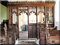 TF5814 : St Mary's church - south aisle screen by Evelyn Simak