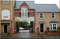 SP5074 : Arched entrance to new block of flats, Dunchurch Road by Andy F