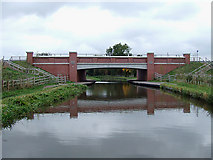 SK0419 : Bridge No 67A, Trent and Mersey Canal near Rugeley by Roger  Kidd