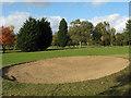 TQ4474 : Bunker on Eltham Warren golf course by Stephen Craven