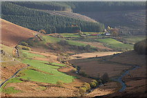 SN8056 : The Tywi valley above Nantyrhwch by Nigel Brown
