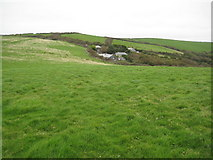 SX1597 : Cleave and surrounding farmland by Philip Halling